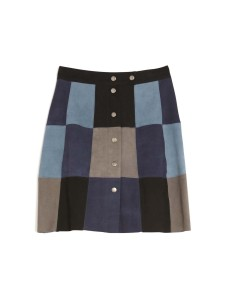SEA Patchwork Suede Skirt Availability: In stock $695.00 Suede patchwork miniskirt featuring snap button placket; fully lined
